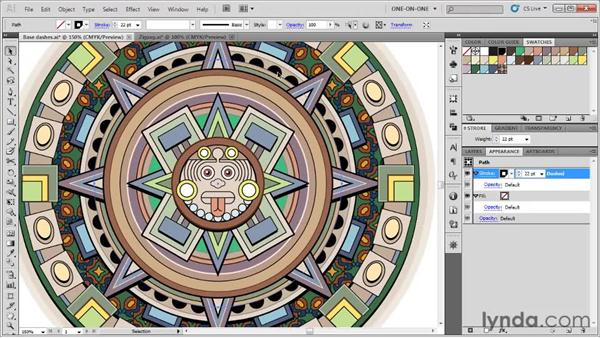 Defining a two-stroke dot pattern: Illustrator CS5 One-on-One: Fundamentals