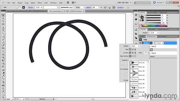 The new CS5 arrowheads: Illustrator CS5 One-on-One: Fundamentals