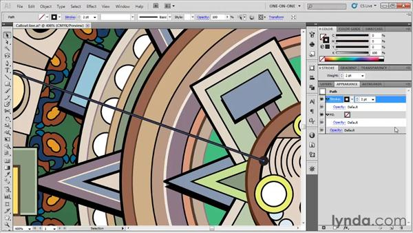 Creating a callout line: Illustrator CS5 One-on-One: Fundamentals