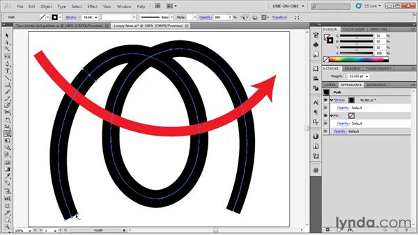 Varying line weight with the Width tool: Illustrator CS5 One-on-One: Fundamentals