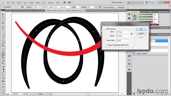 Width tool tips and tricks: Illustrator CS5 One-on-One: Fundamentals