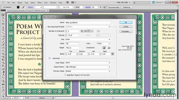 Making a margin guide: Illustrator CS5 One-on-One: Fundamentals