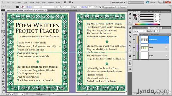 Offsetting flush-left text: Illustrator CS5 One-on-One: Fundamentals