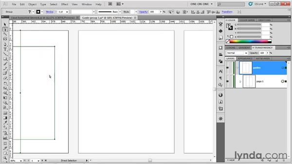 Moving and duplicating guides: Illustrator CS5 One-on-One: Fundamentals