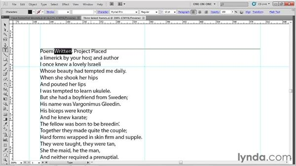 Selecting words and lines of text: Illustrator CS5 One-on-One: Fundamentals