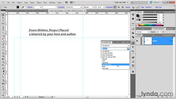 Working with point text: Illustrator CS5 One-on-One: Fundamentals