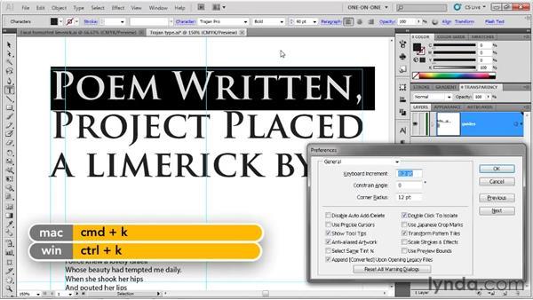Incrementally adjusting type size: Illustrator CS5 One-on-One: Fundamentals