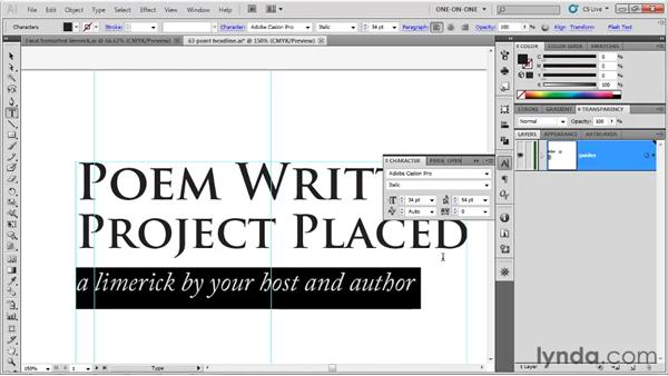 Leading a paragraph indent: Illustrator CS5 One-on-One: Fundamentals