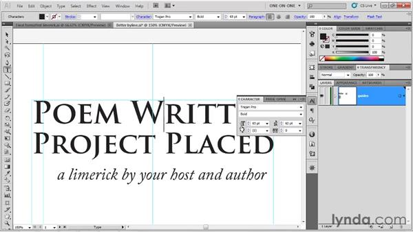 Pair kerning and tracking: Illustrator CS5 One-on-One: Fundamentals