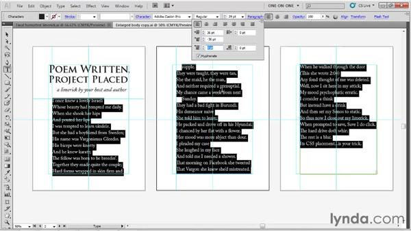 Hanging indent and paragraph spacing: Illustrator CS5 One-on-One: Fundamentals
