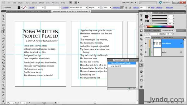 Creating a paragraph style: Illustrator CS5 One-on-One: Fundamentals