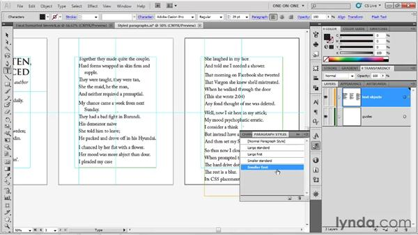 Redefining paragraph styles: Illustrator CS5 One-on-One: Fundamentals