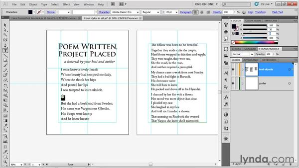 Using the Glyphs panel: Illustrator CS5 One-on-One: Fundamentals