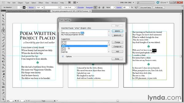 Spell-checking text: Illustrator CS5 One-on-One: Fundamentals