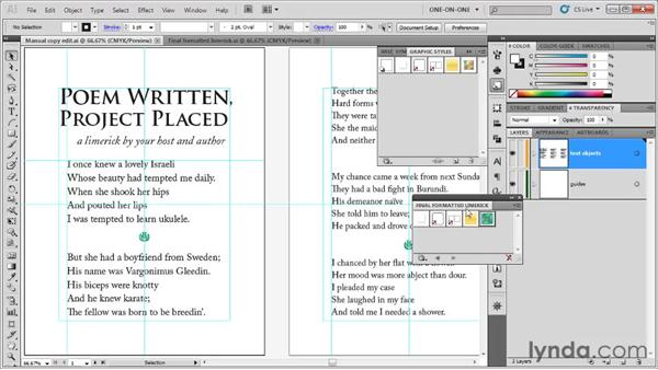 Copying and applying a graphic style: Illustrator CS5 One-on-One: Fundamentals