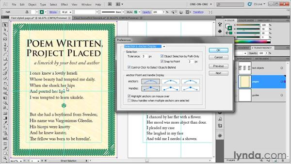 Selecting through text objects: Illustrator CS5 One-on-One: Fundamentals