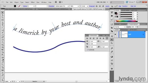 Creating type on a path: Illustrator CS5 One-on-One: Fundamentals