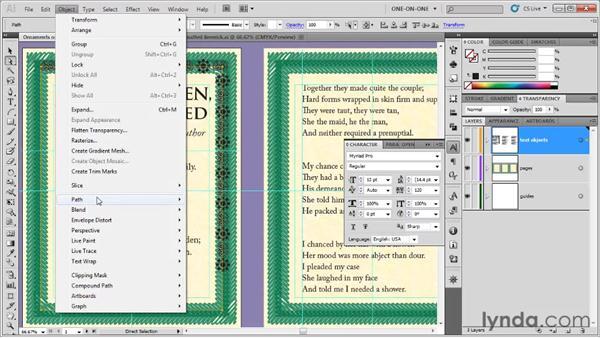 Tracking and kerning border elements: Illustrator CS5 One-on-One: Fundamentals