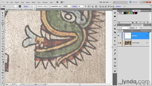 Editing a path as you go: Illustrator CS5 One-on-One: Fundamentals