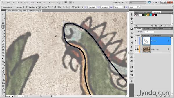 Adding corners to a spline: Illustrator CS5 One-on-One: Fundamentals