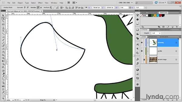 How control handles work: Illustrator CS5 One-on-One: Fundamentals