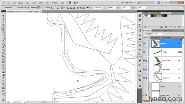 Tracing a smooth path outline: Illustrator CS5 One-on-One: Fundamentals