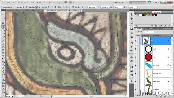 Combining different varieties of points: Illustrator CS5 One-on-One: Fundamentals