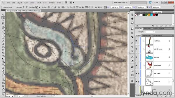 Aligning open paths: Illustrator CS5 One-on-One: Fundamentals