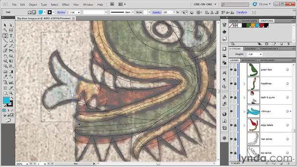 Drawing one path inside another: Illustrator CS5 One-on-One: Fundamentals