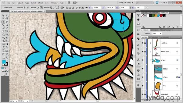 Stacking clipped paths: Illustrator CS5 One-on-One: Fundamentals