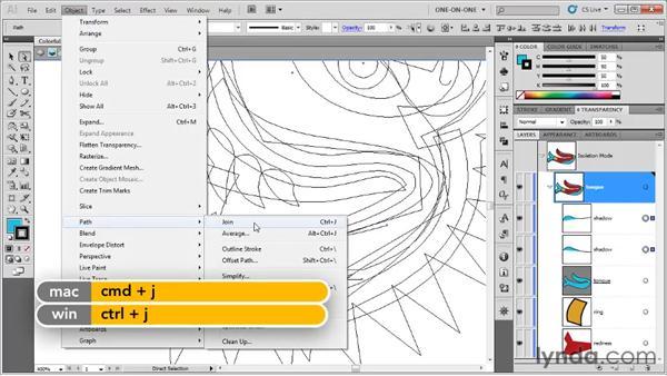 Copying and repurposing segments: Illustrator CS5 One-on-One: Fundamentals