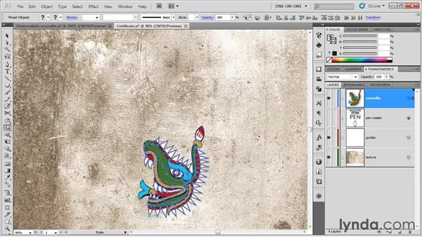 Grabbing and transforming a whole layer: Illustrator CS5 One-on-One: Fundamentals