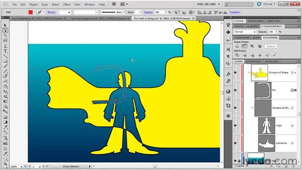 Adding to a compound shape: Illustrator CS5 One-on-One: Fundamentals
