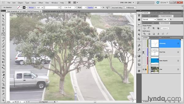 Drawing limbs with the Line tool: Illustrator CS5 One-on-One: Fundamentals