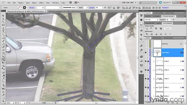 """Filling """"elbow gaps"""" and tapering limbs: Illustrator CS5 One-on-One: Fundamentals"""