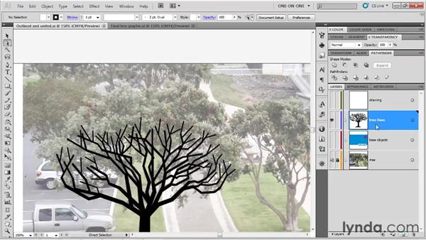 Making a guide in the shape of a tree: Illustrator CS5 One-on-One: Fundamentals