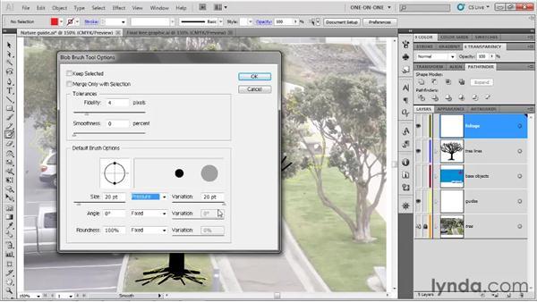 The Blob Brush goes organic: Illustrator CS5 One-on-One: Fundamentals