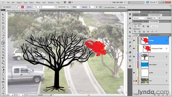 Painting in the foliage: Illustrator CS5 One-on-One: Fundamentals