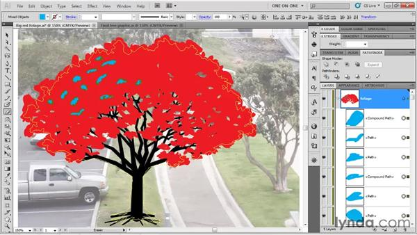 Painting more precise holes: Illustrator CS5 One-on-One: Fundamentals