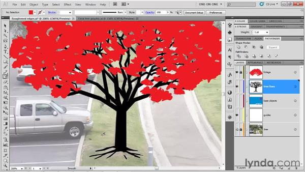 Contouring roots and limbs: Illustrator CS5 One-on-One: Fundamentals
