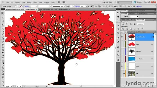 Uniting a compound silhouette: Illustrator CS5 One-on-One: Fundamentals
