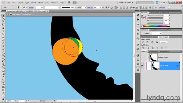 Using the Divide operation: Illustrator CS5 One-on-One: Fundamentals