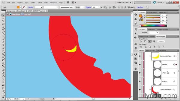 Creating nested compound shapes: Illustrator CS5 One-on-One: Fundamentals