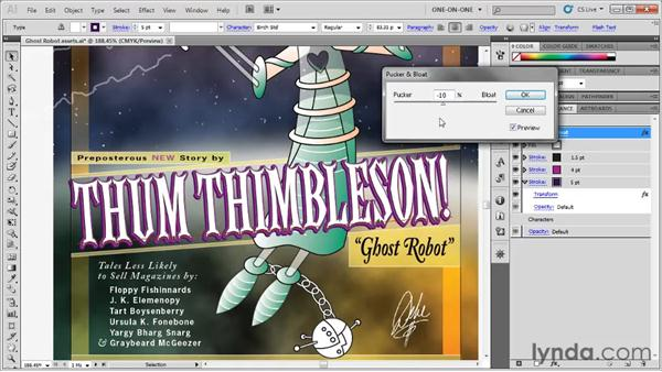 Working with specialty fonts and effects: Illustrator CS5 One-on-One: Fundamentals