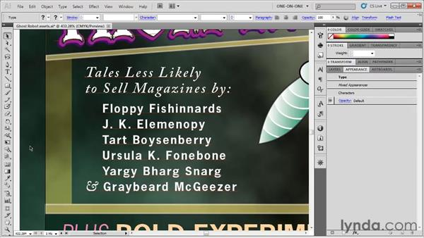 Converting type to outlines: Illustrator CS5 One-on-One: Fundamentals