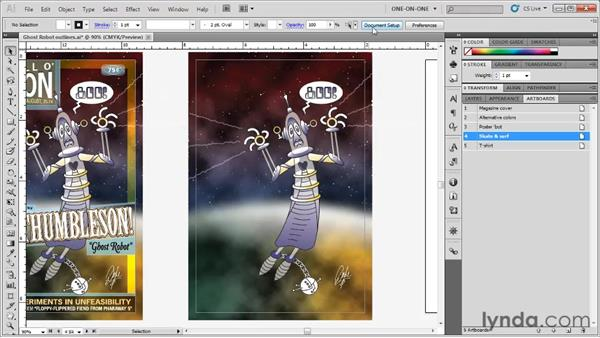 Setting trim size and bleed: Illustrator CS5 One-on-One: Fundamentals