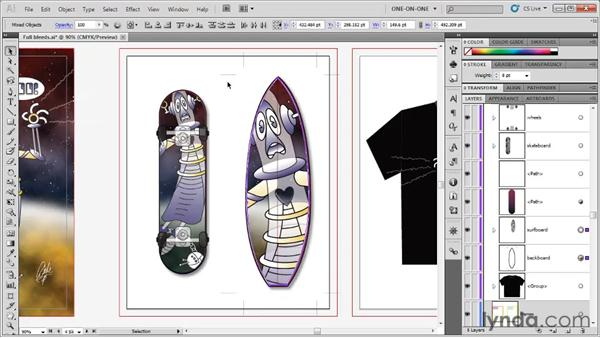 Assigning automatic crop marks: Illustrator CS5 One-on-One: Fundamentals