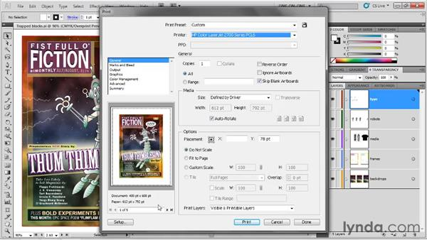 The General Print options: Illustrator CS5 One-on-One: Fundamentals