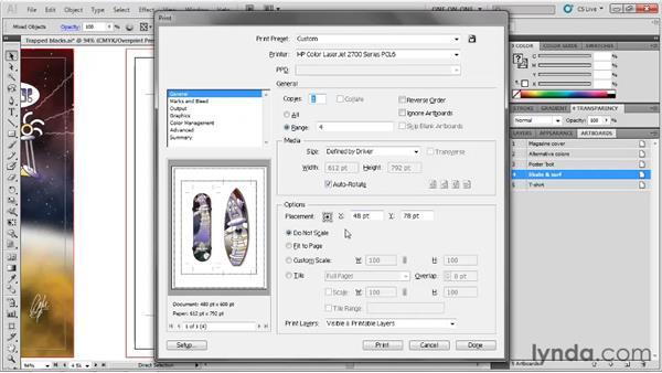 Trim and printer marks: Illustrator CS5 One-on-One: Fundamentals
