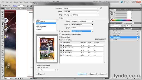 PostScript-only output options: Illustrator CS5 One-on-One: Fundamentals